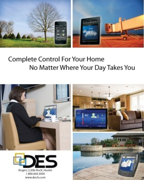 Electronic systems company showing that control doesn't stop when you leave your home.