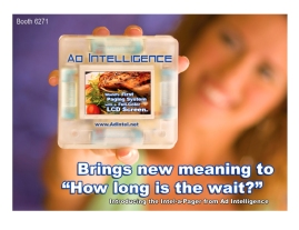 First Ad I Wrote: Restaurant paging system with LCD screen to keep guests entertained and informed while waiting to be seated.