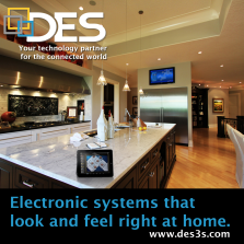 Electronic systems company showing that the technology doesn't take over the look of your home.