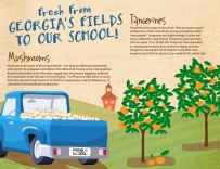 One in a series of 10 posters created for school cafeterias in Georgia to promote local farming and educate children where their food comes from.