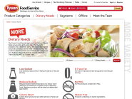 Tyson Food Service website