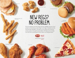 New school meal rules created a mild panic among school foodservice directors. Tyson Foods developed foods that met or exceeded the new standards.